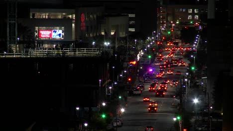 Lapso-De-Tiempo-Del-Tráfico-En-Las-Calles-De-Houston-Por-La-Noche