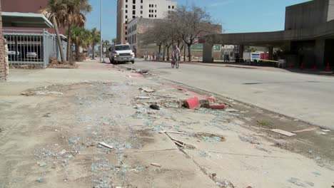 Tilt-up-of-junk-and-refuse-sits-on-the-street-during-the-cleanup-after-Hurricane-Ike-in-Galveston-Texas