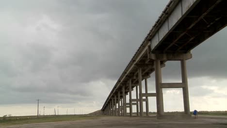 A-time-lapse-shot-of-a-raised-bridge-as-a-storm-approaches