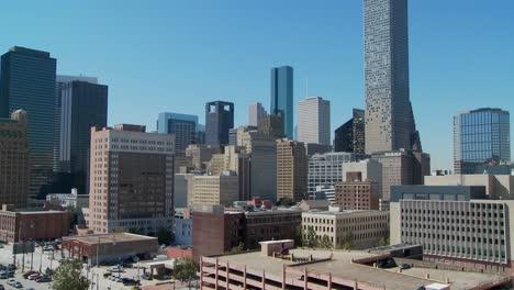 A-tilt-up-the-skyline-of-Houston-Texas