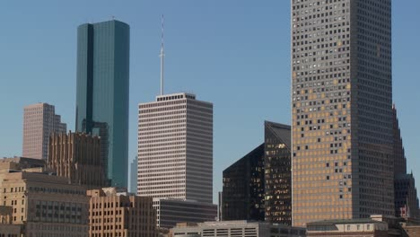 The-skyline-of-Houston-Texas-skyscraper-shows-some-damage-from-Huricane-Ike