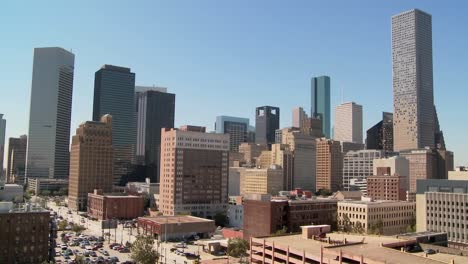 El-Horizonte-De-Houston-En-Un-Día-Soleado