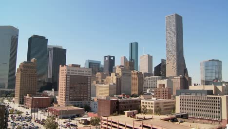 Whip-zoom-out-from-Houston-skyline-on-a-bright-sunny-day