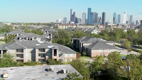A-suburban-area-of-Houston-with-the-downtown-distant