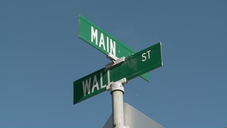 A-street-sign-indicates-the-intersection-of-Main-and-Wall-Streets-1