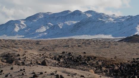 Lapso-De-Tiempo-Del-Desierto-De-Nevada-En-Invierno