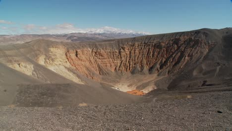 Pan-across-a-volcanic-crater-in-Death-Valley-National-Park