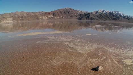 A-pan-across-a-lake-of-badwater-in-Death-Valley-National-Park