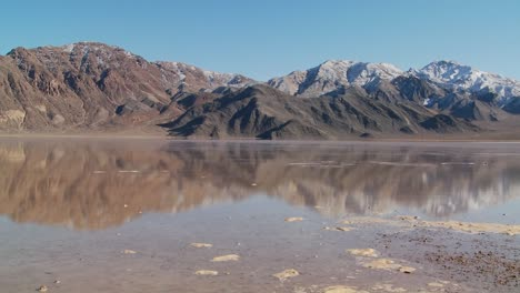 A-pan-across-a-lake-of-badwater-in-Death-Valley-National-Park-1