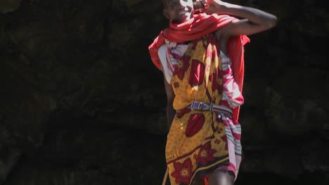 A-Masai-warrior-boy-talks-on-a-cell-phone