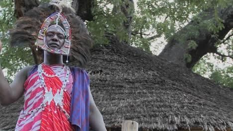 Pan-to-a-Masai-warrior-in-full-headdress