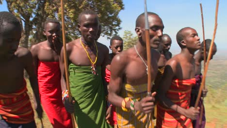 Masai-warriors-perform-a-ritual-dance-in-Kenya-Africa