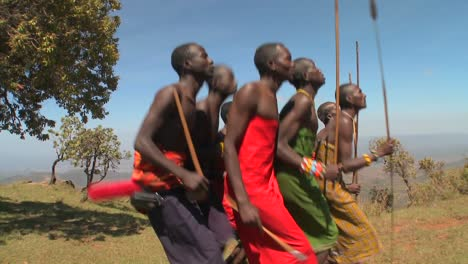 Masai-warriors-perform-a-ritual-dance-in-Kenya-Africa-2