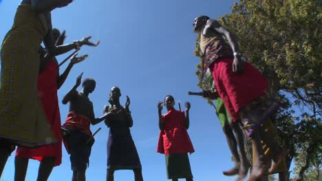 Masai-warriors-perform-a-ritual-dance-in-Kenya-Africa-8