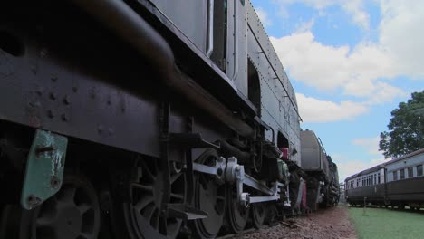 Old-trains-sit-abandoned-in-a-railyard-in-this-time-lapse-shot