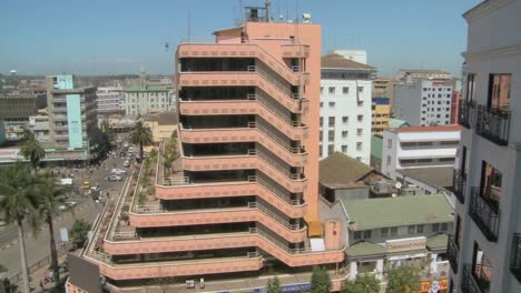 Pan-across-Nairobi-buildings-offices-and-streets