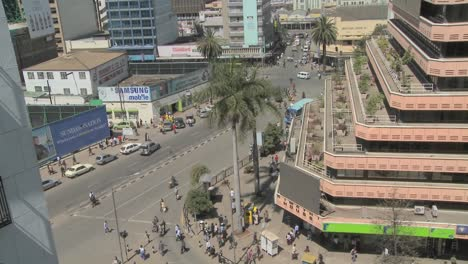 A-street-and-office-building-view-of-downtown-Nairobi-Kenya