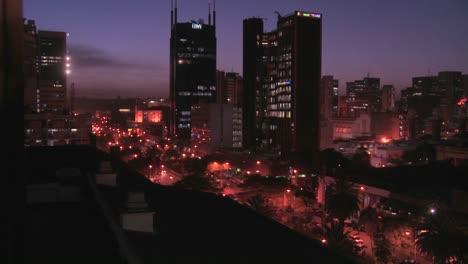 The-skyline-of-Nairobi-Kenya-at-night