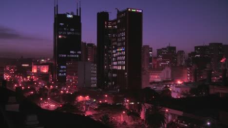 The-skyline-of-Nairobi-Kenya-at-night-1