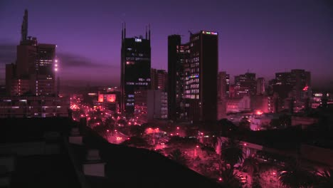 The-skyline-of-Nairobi-Kenya-at-night-2