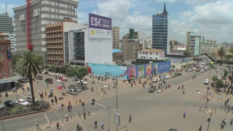 Wide-angle-view-of-busy-streets-in-Nairobi-Kenya