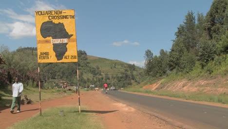 A-sign-marks-the-equator-line-in-Kenya-Africa
