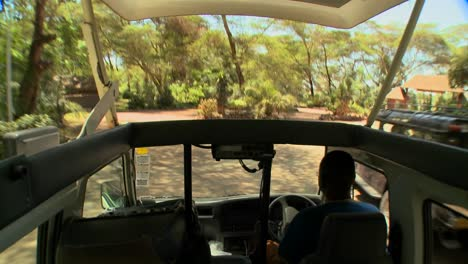 POV-shot-driving-in-an-open-topped-safari-vehicle-through-Africa