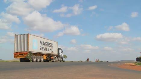 A-Maersk-Sealand-truck-sits-beside-a-highway-in-rural-Kenya