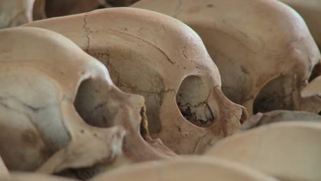 Close-up-of-skulls-on-display-in-a-church-dedicated-to-the-Rwandan-genocide