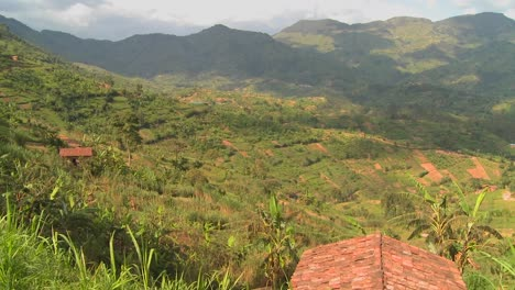 Panning-shot-across-the-lush-tropical-countryside-of-Rwanda