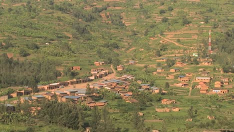 A-small-village-in-rural-Rwanda-from-a-distance