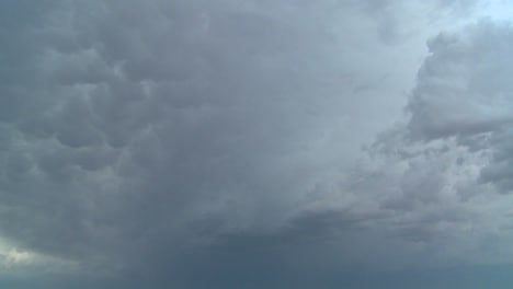 Time-lapse-shot-of-very-dark-and-threatening-storm-clouds-forming