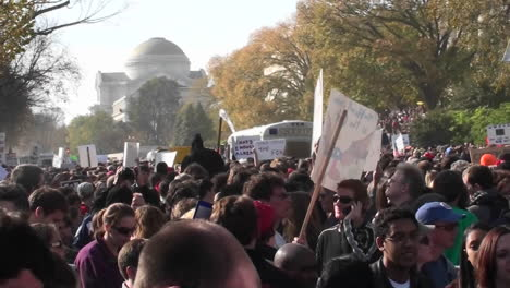 A-large-political-rally-with-signs-on-the-mall-in-Washington-DC