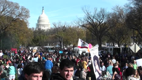 Huge-crowds-of-protestors-gather-in-Washington-DC-for-a-protest-rally