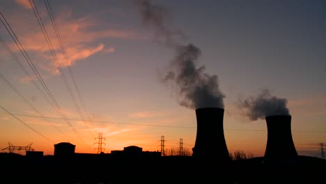Sunset-behind-nuclear-power-plant-2