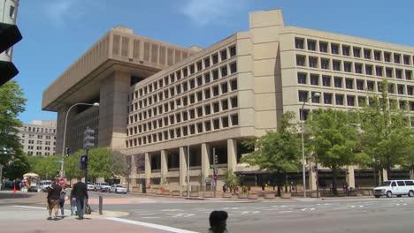 Establishing-shot-of-the-FBI-building-in-Washington-DC