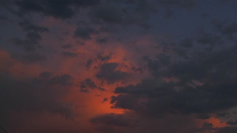 The-final-light-of-sunset-glows-in-a-time-lapse-sky