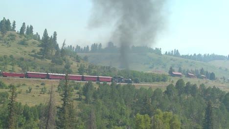 A-steam-train-travels-through-Colorado-countryside