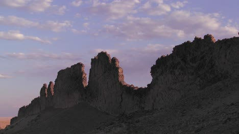 Time-lapse-of-rocky-outcroppings-near-Shiprock-New-Mexico