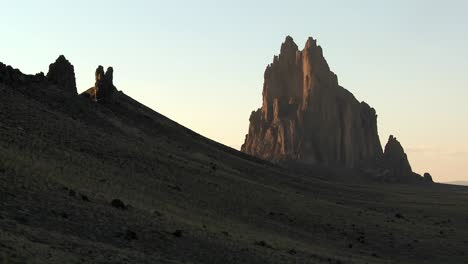 Late-dusk-behind-rocky-outcroppings-near-Shiprock-New-Mexico-1
