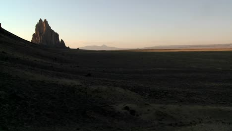 Late-dusk-behind-rocky-outcroppings-near-Shiprock-New-Mexico-2