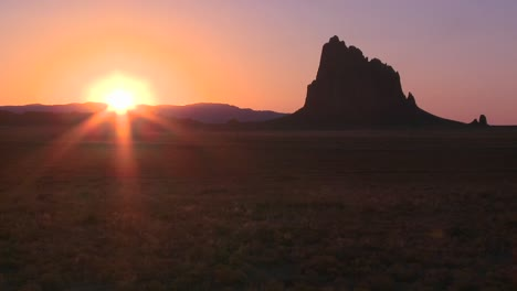 Time-lapse-of-the-sunset-behind-Shiprock-New-Mexico