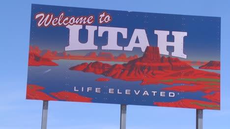 A-roadside-sign-welcomes-visitors-to-Utah-1