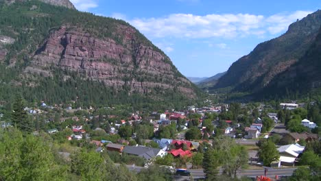 A-downtown-establishing-shot-of-Ouray-Colorado-with-steam-train-passing-1