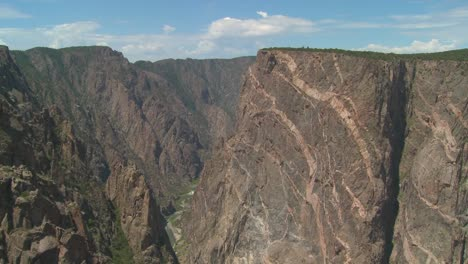 A-time-lapse-shot-of-a-cliff-face-in-the-black-canyon-of-the-Gunisson