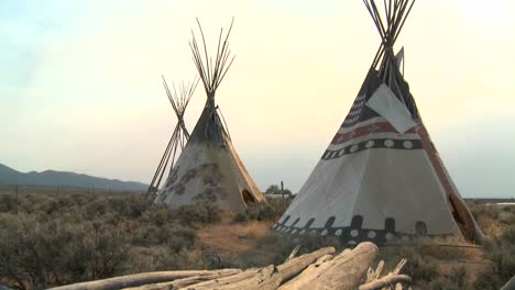Indian-teepees-stand-in-a-native-american-encampment-1