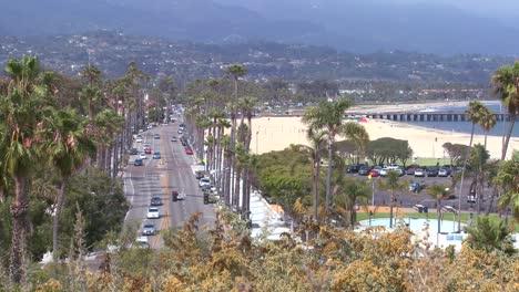 A-summer-day-along-the-beach-in-Santa-Barbara-California