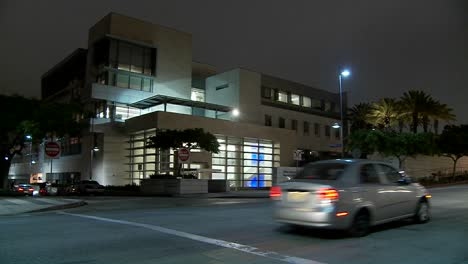 A-police-station-at-night