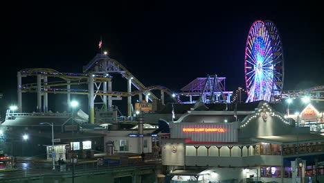 A-night-shot-of-the-Santa-Monica-pier-in-Los-Angeles-1