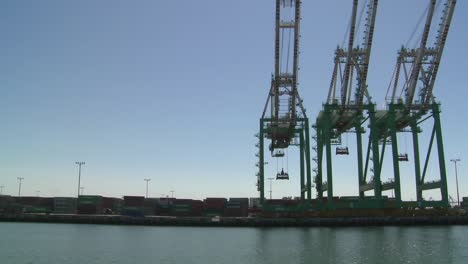 POV-from-boat-of-cranes-and-port-at-Long-Beach-harbor